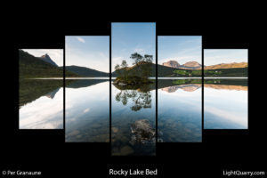 Rocky Lake Bed (5 Piece Wall Art) by Per Granaune